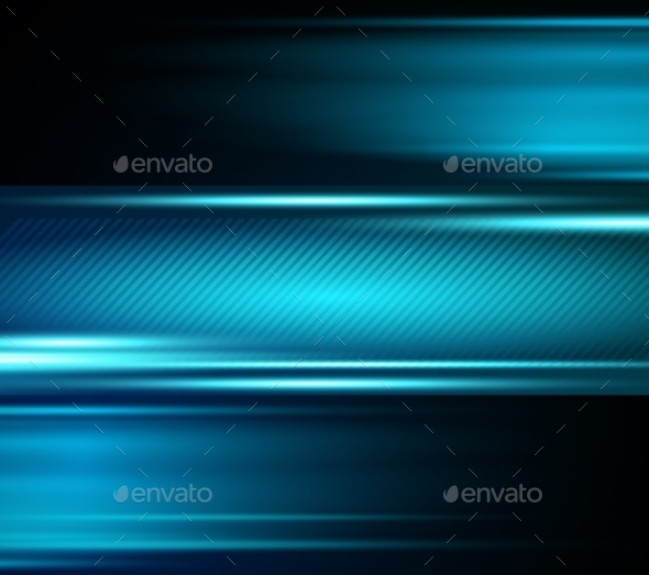 GraphicRiver Abstract Blue Light Shiny Background 10877287