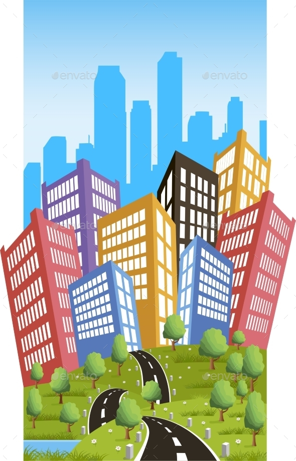 GraphicRiver Road to the City 10877419