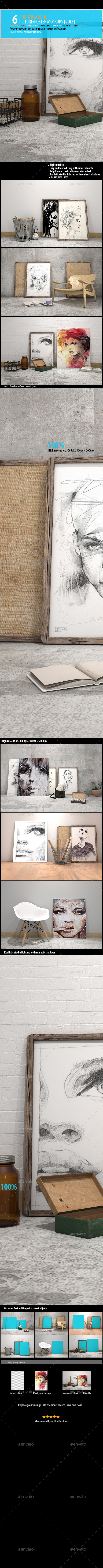 GraphicRiver Picture Poster Mockups [vol 5] 10877493