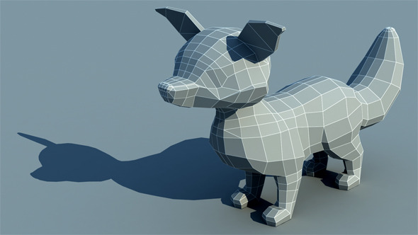 3DOcean Fox Low Poly 10877540
