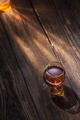 Cognac in glass on the wood - PhotoDune Item for Sale