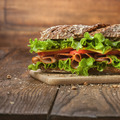 Sandwich on the wooden table - PhotoDune Item for Sale