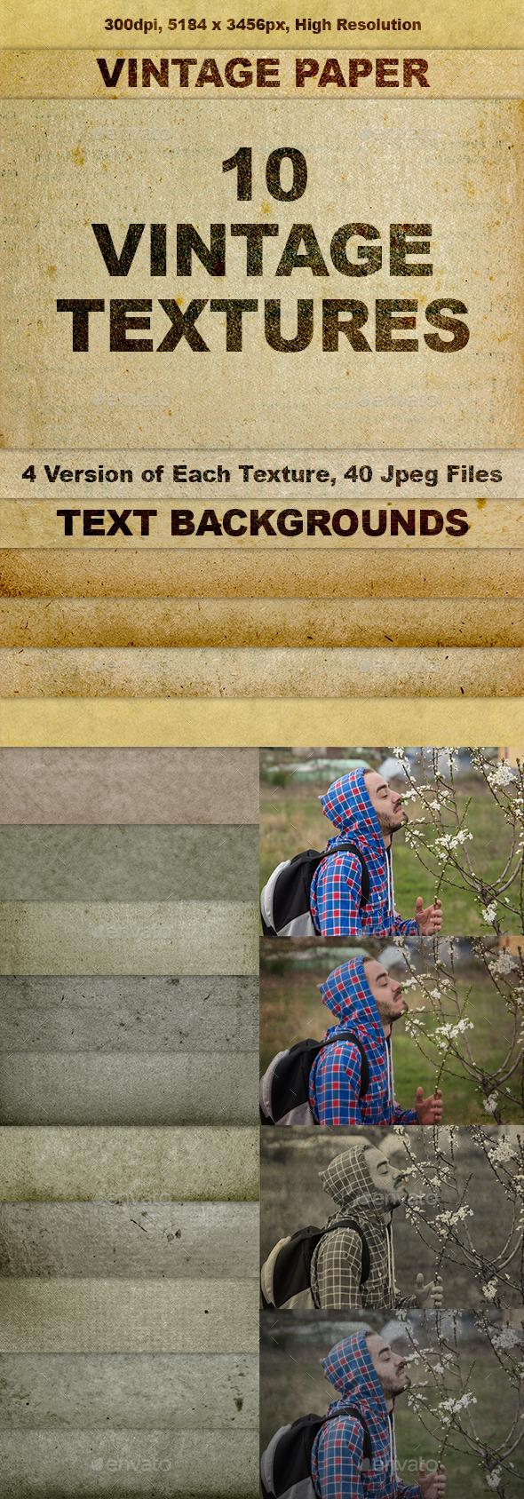 GraphicRiver Vintage Paper Textures 10878022