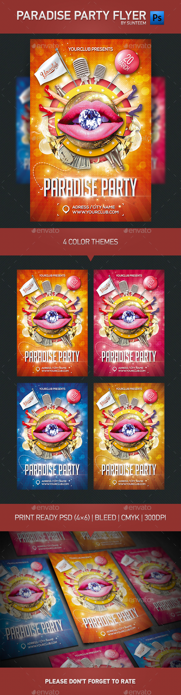 GraphicRiver Paradise Party Flyer Template 10878379