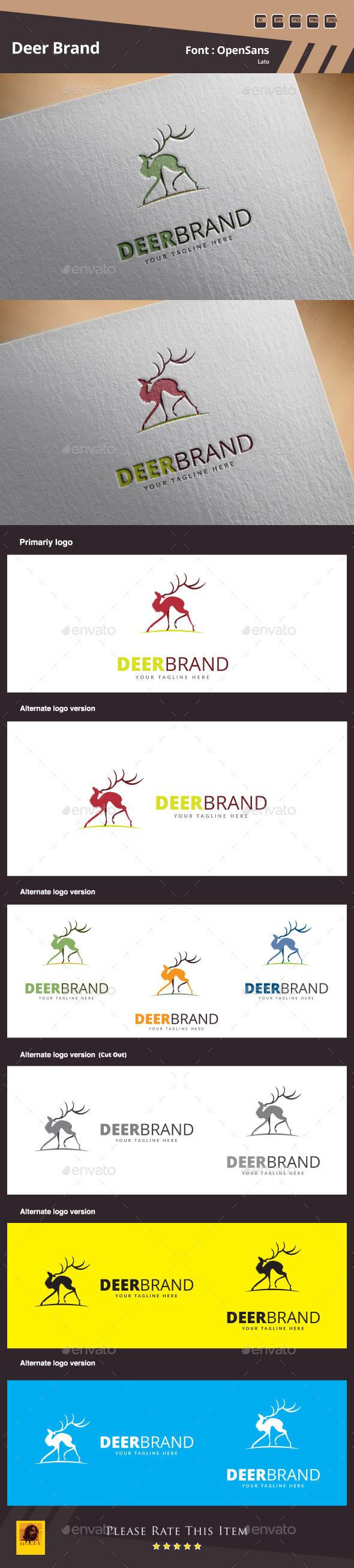 GraphicRiver Deer Brand Logo Template 10878467
