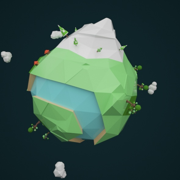3DOcean Low Poly Earth 10878685