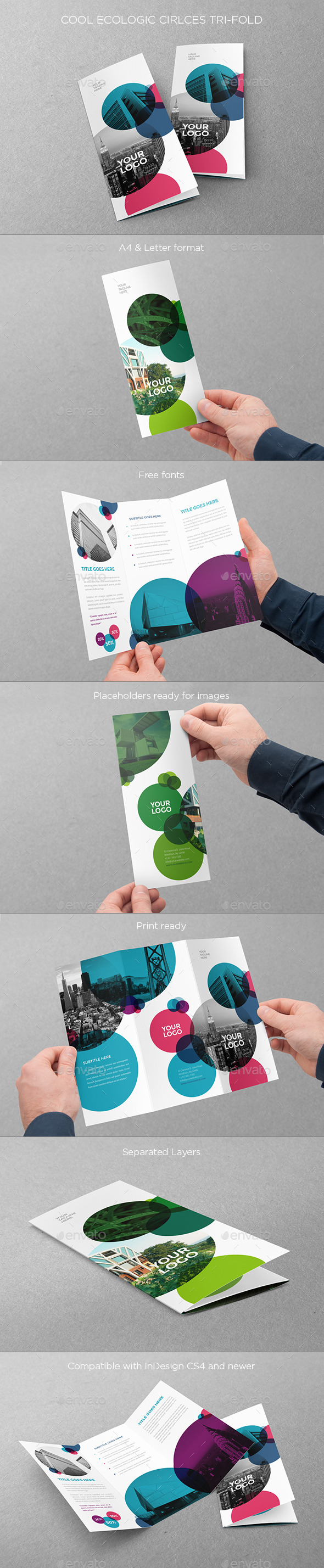 GraphicRiver Cool Ecologic Circles Trifold 10880089