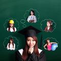 graduate student woman think future - PhotoDune Item for Sale