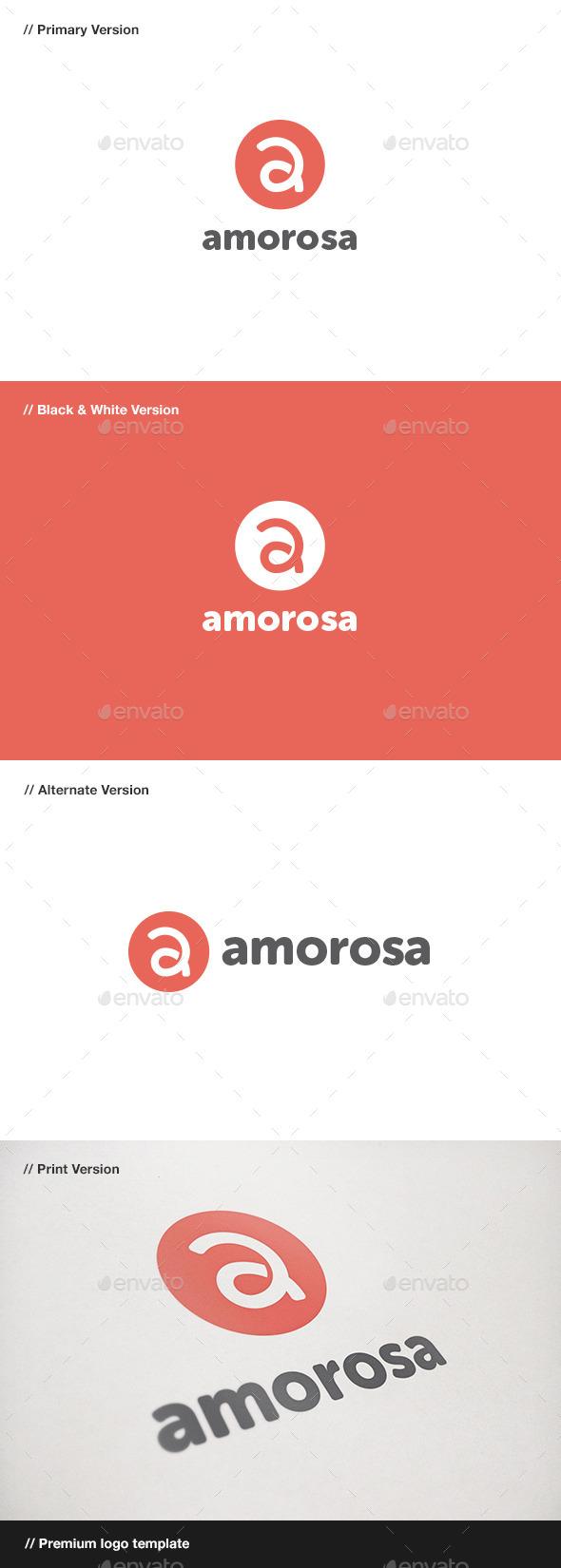 GraphicRiver Amorosa Lettar A Logo 10880163