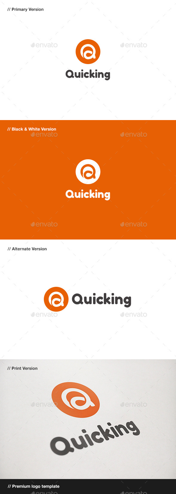 GraphicRiver Quicking Letter Q Logo 10880170