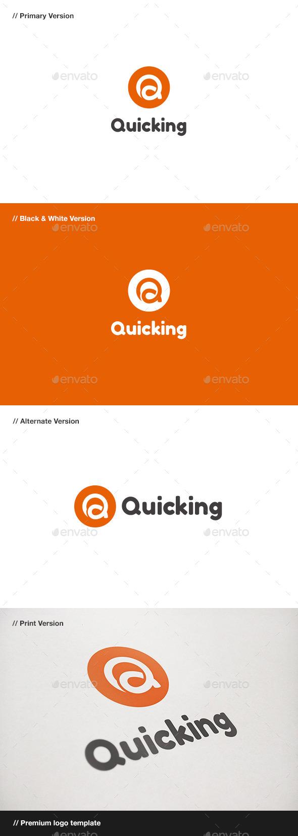 GraphicRiver Quicking Letter Q Logo 10880170