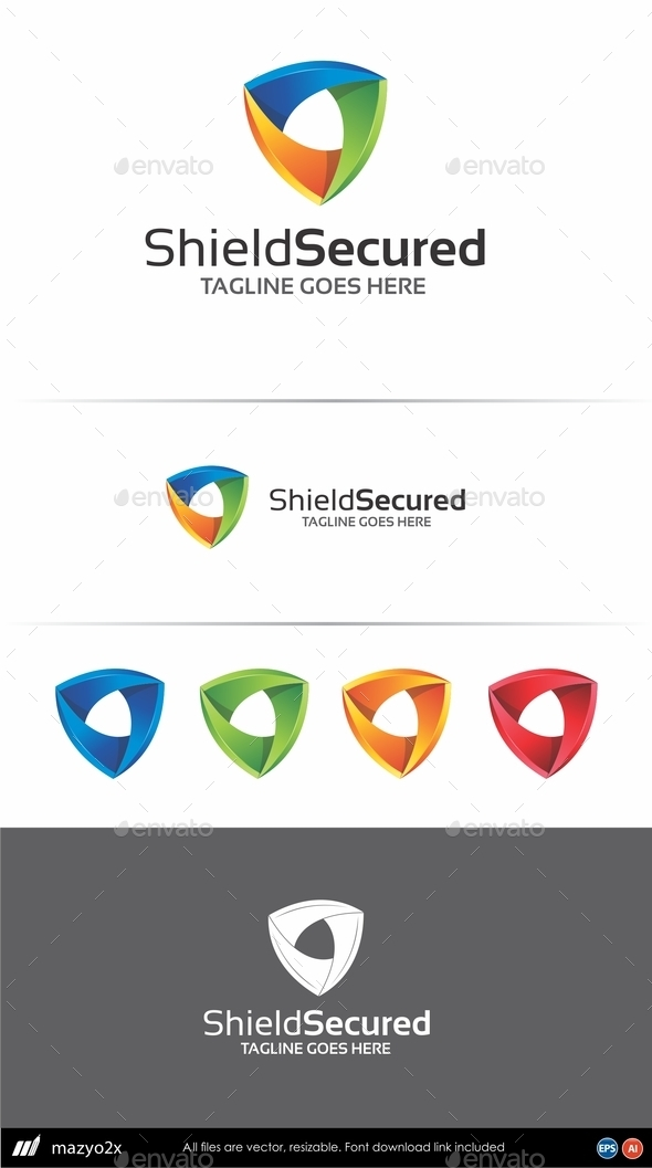GraphicRiver Shield Logo Template 10880277