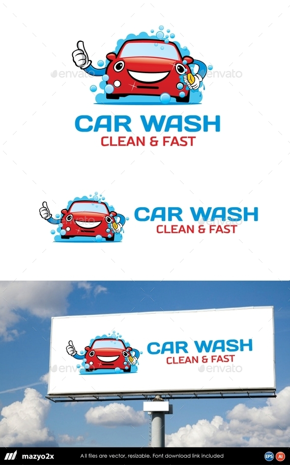 GraphicRiver Car Wash Logo 10880376