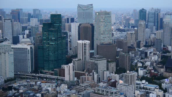 View Of Tokyo Skyline From Roppongi Hills Tower Tokyo Japan