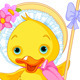Easter Duckling with Shepherdess Staff - GraphicRiver Item for Sale