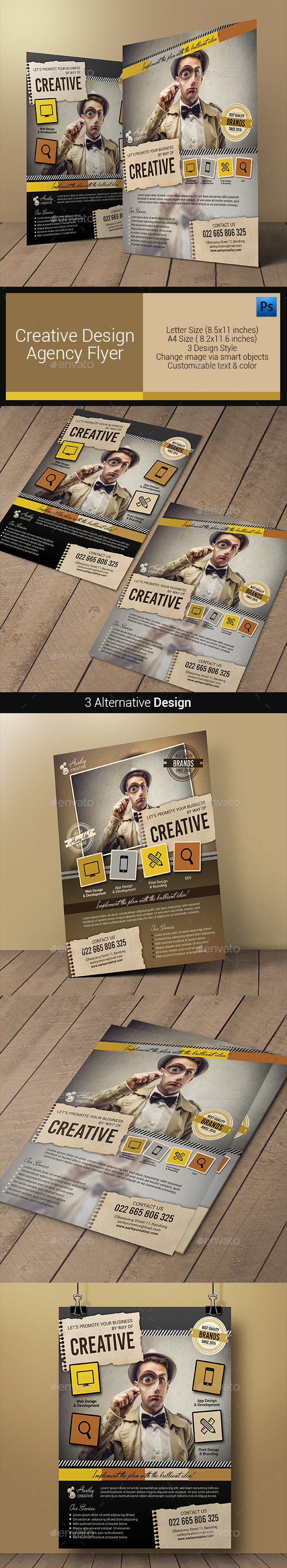 GraphicRiver Creative Design Agency Flyers 10880677