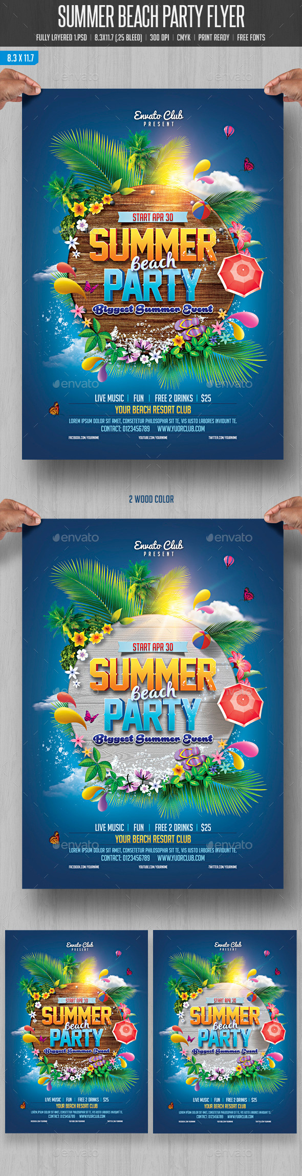 GraphicRiver Summer Beach Party 10880683