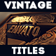 Vintage Title Package - VideoHive Item for Sale