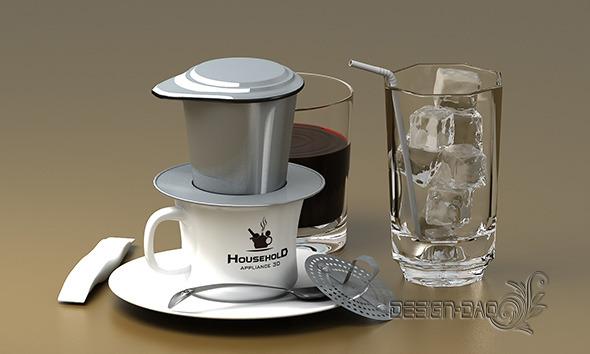 3DOcean Hand coffee pot maker Detail 10880802