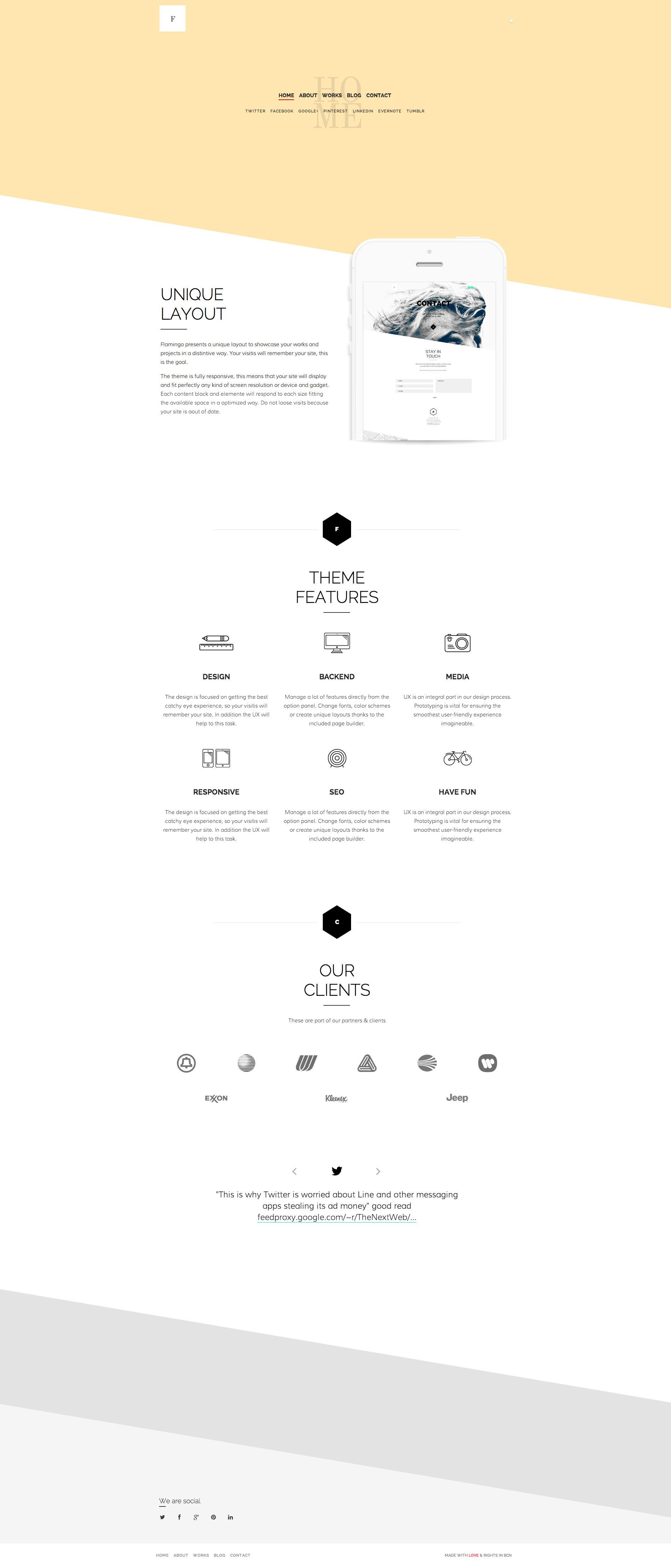 Flamingo - Agency & Freelance Portfolio Theme