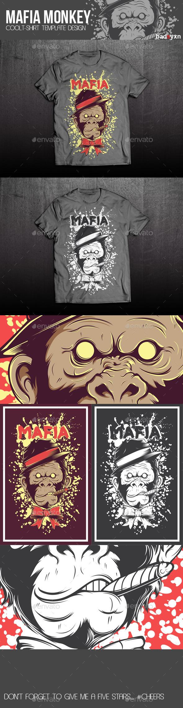 GraphicRiver Mafia T-shirt Template 10881066
