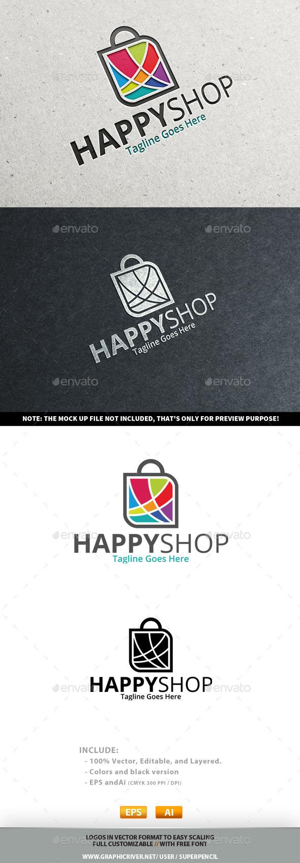 GraphicRiver Happy Shop Logo 10881326