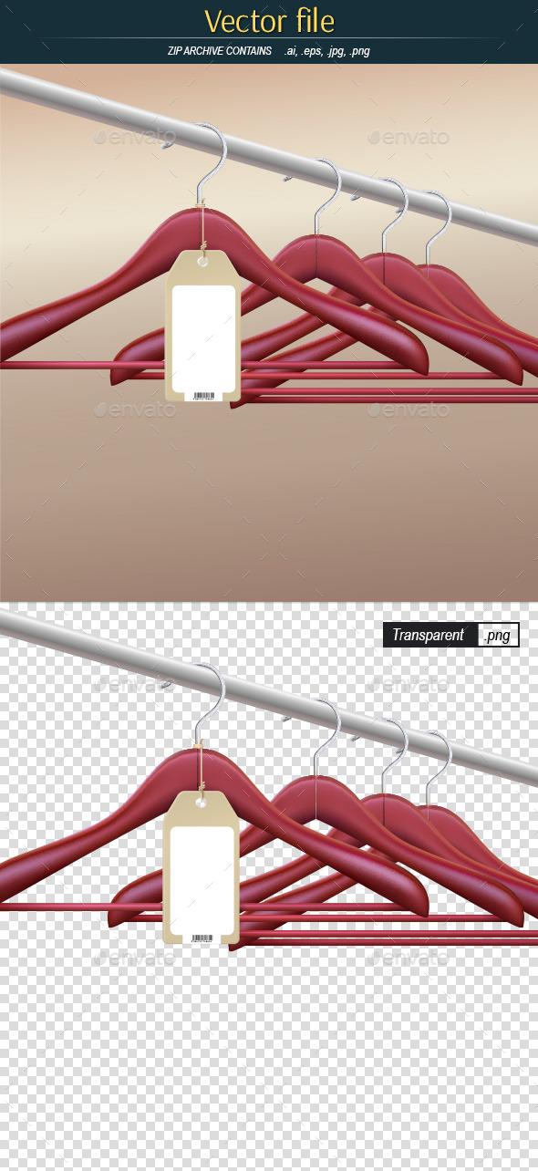 GraphicRiver Hanger on Rack with Tag 10881339