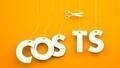 Scissors cuts word COSTS - PhotoDune Item for Sale