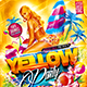 Flyer Yellow Party Konnekt - GraphicRiver Item for Sale