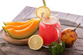 Melon, Orange and Pomegrate smoothies - PhotoDune Item for Sale