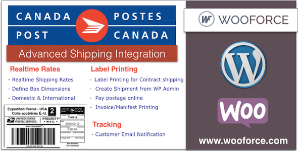 CodeCanyon Canada Post WooCommerce Shipping with Print Label 10881749