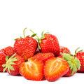 Fresh strawberry fruit on white background. - PhotoDune Item for Sale