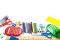 Stationery and school supplies isolated on white background. - PhotoDune Item for Sale