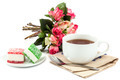 Flowers roses, tea and sweet candy. - PhotoDune Item for Sale