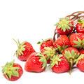 Fresh fruit strawberries on white background. - PhotoDune Item for Sale