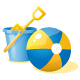 Ball, bucket and shell. - GraphicRiver Item for Sale