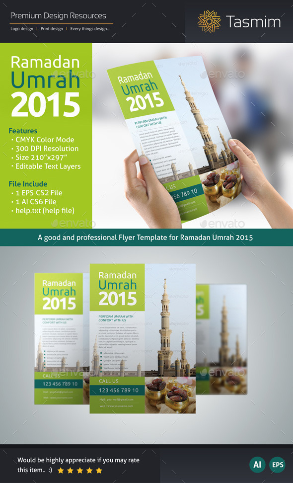 GraphicRiver Ramadan Umrah 2015 Flyer Template 10795659