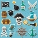 Pirate Themed Stickers  - GraphicRiver Item for Sale