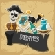 Background on Pirate Theme with Stickers - GraphicRiver Item for Sale