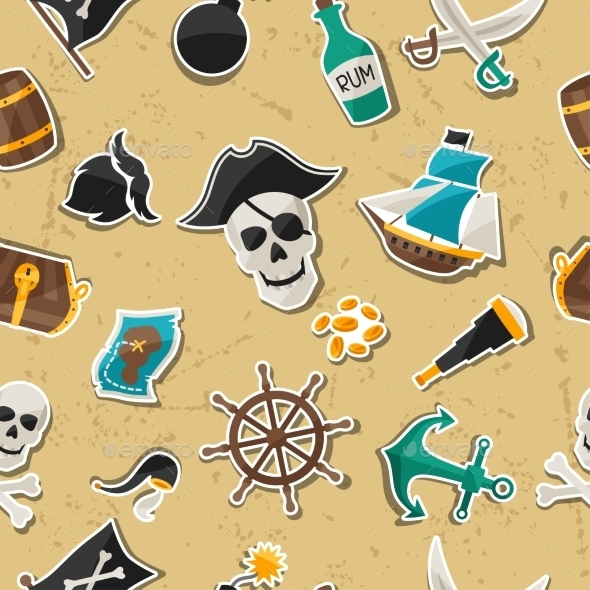 GraphicRiver Pirate Background 10882332