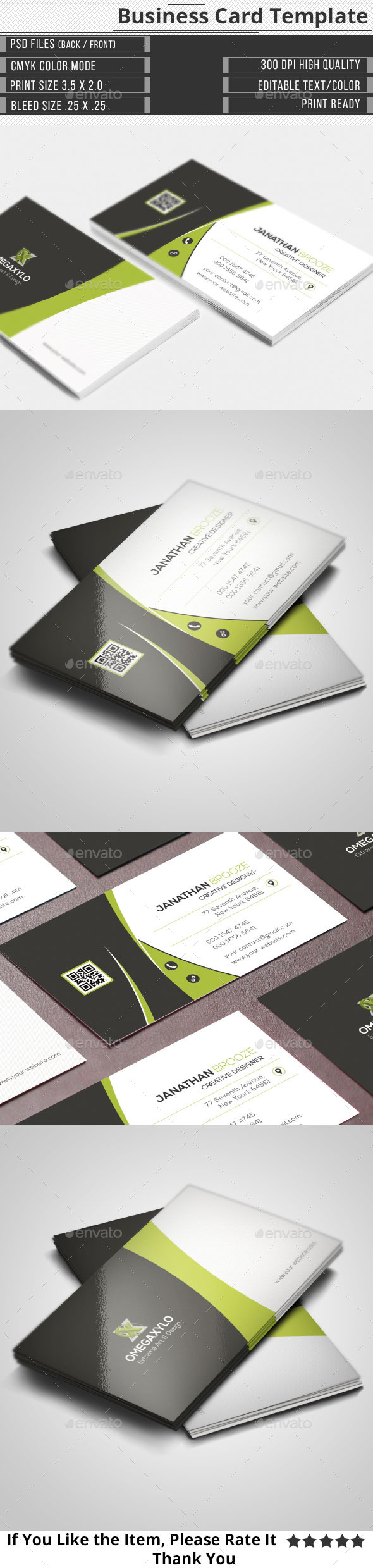 GraphicRiver Corporate Business Card 10882775