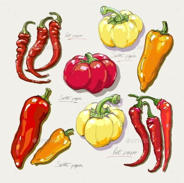 GraphicRiver Red Hot Peppers 10882898