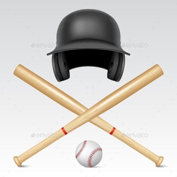 GraphicRiver Set of Baseball Equipment 10882908