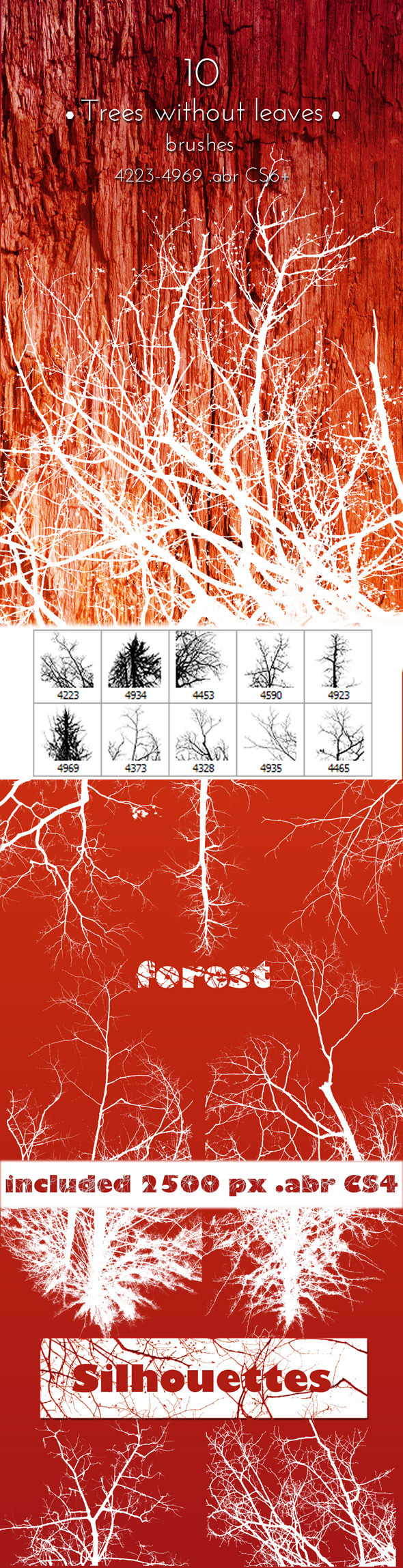 GraphicRiver Trees Brushes Photoshop Collection 10883550