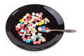 Pills in Black Plate - PhotoDune Item for Sale