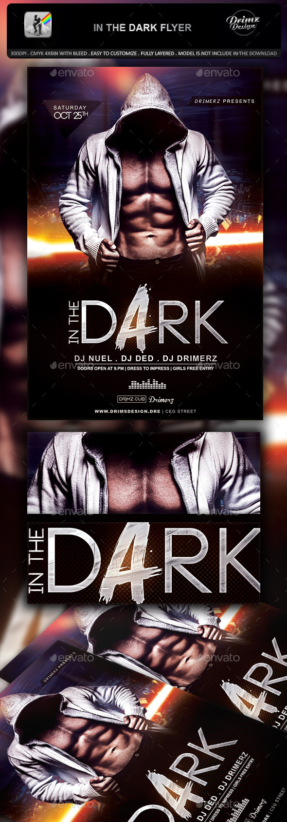 GraphicRiver In The Dark Flyer 10884083