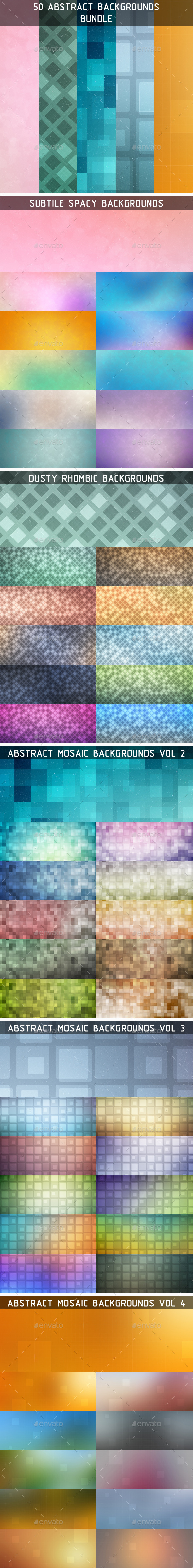 GraphicRiver 50 Abstract Backgrounds Bundle 10884384