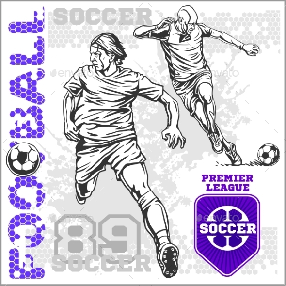 GraphicRiver Soccer and Football Players 10884580