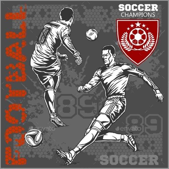 GraphicRiver Soccer and Football Players 10884582