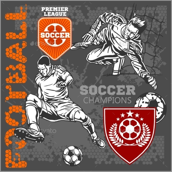 GraphicRiver Soccer and Football Players 10884588